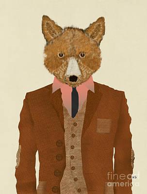 Painting - Mr Fox by Bri B
