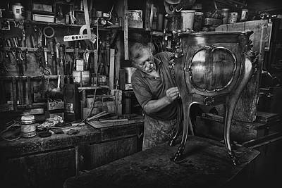 Francesco Photograph - Mr. Francesco - Final Polishing... by Antonio Grambone