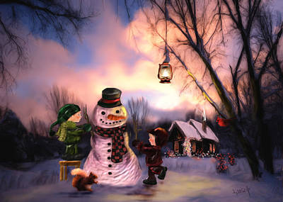 Painting - Mr. Frosty by Johanne Dauphinais