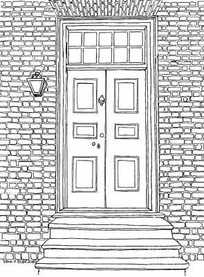 Mr. George Wythe's Front Door Art Print