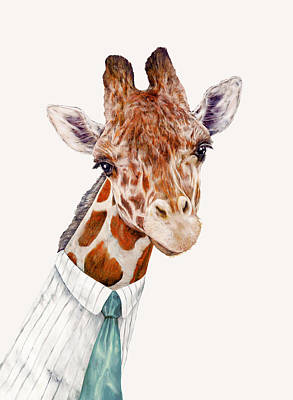 Animal Wall Art - Painting - Mr Giraffe by Animal Crew
