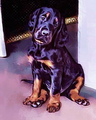 Mr Gordon Setter Pup Art Print