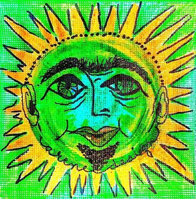 Mixed Media - Mr Green Sun by Renee Marie Martinez