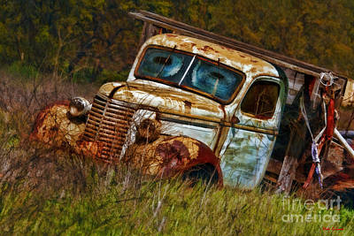 Photograph - Mr Greenjeans Truck Ciose Up by Blake Richards