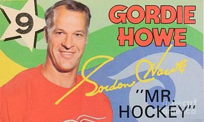 Hockey Heroes Painting - Mr. Hockey Gordie Howe Collectable by Pd