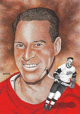 Mr. Hockey Painting - Mr. Hockey by Rob Payne