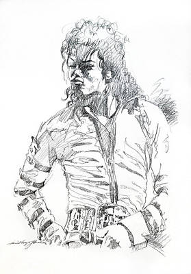 Jackson 5 Drawing - Mr. Jackson by David Lloyd Glover