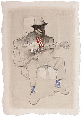 Gretsch Painting - Mr. Lucky by David Farren