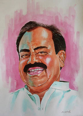 Hyderabad Artist Painting - Mr. Madhusudhana Chari by Venkat Meruvu