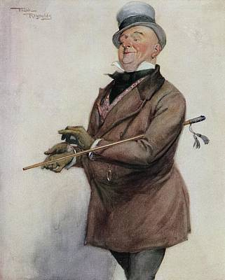 Reynolds Drawing - Mr Micawber From The Painting By Frank by Vintage Design Pics