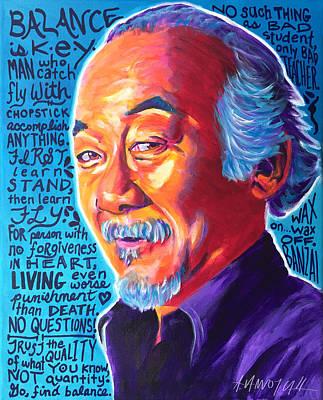 Character Portraits Painting - Mr. Miyagi by Alicia VanNoy Call