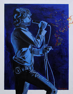 Lead Singer Painting - Mr. Mojo Risin  by Anthony Jensen