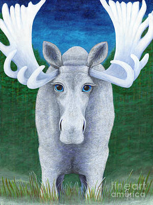 Painting - Mr. Moose by Rebecca Parker