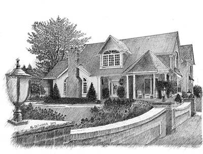 Drawing - Mr.  Mrs. C's House by Al Intindola