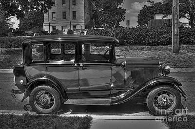 Ford Automobile Photograph - Mr. Ness -- Your Car Is Ready by David Bearden