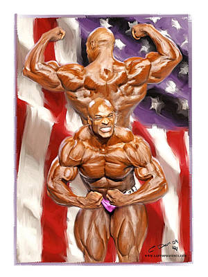 Bodybuilding Painting - Mr Olympia Ronnie Coleman by Chris Dent