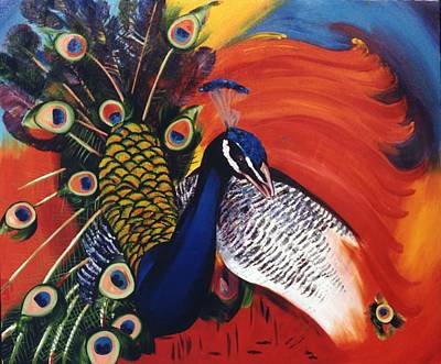 Painting - Mr Peacock by Lisa Boyd