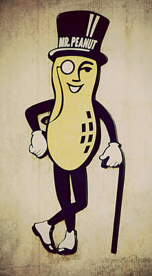 Mr Peanut Art Print by Robin Dickinson