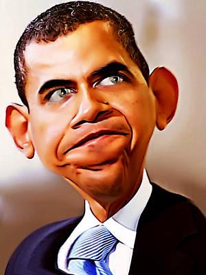 Digital Art - Mr. President by Karen Showell