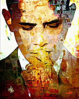 Mr. President Art Print by Lynda Payton