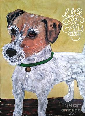Art Print featuring the painting Mr. R. Terrier by Reina Resto