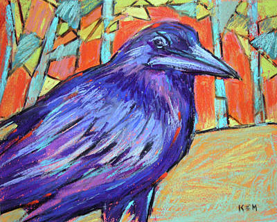 Painting - Mr. Raven by Karen Margulis