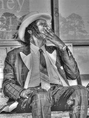Photograph - Mr Robinson Smoking by David Bearden