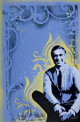 Spray Painting - Mr. Rogers by Tai Taeoalii