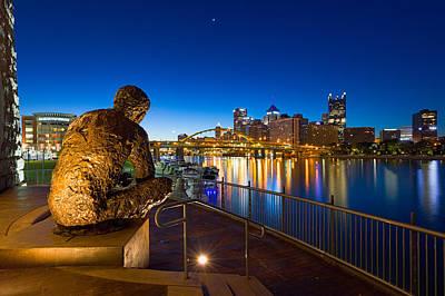 Photograph - Mr Rogers Statue 3 by Emmanuel Panagiotakis