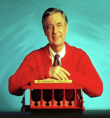 Mr Rogers With Trolley Art Print