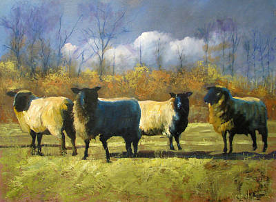 Mr. Shew's Sheep Art Print by John Reynolds