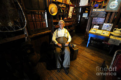 Old Man Digital Art - Mr. Smallwood And His Store by David Lee Thompson