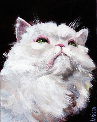Painting - Mr Smudge,the Glamour Puss by Larissa Pirogovski