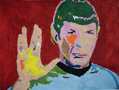 Actors Painting - Spock by Stormm Bradshaw