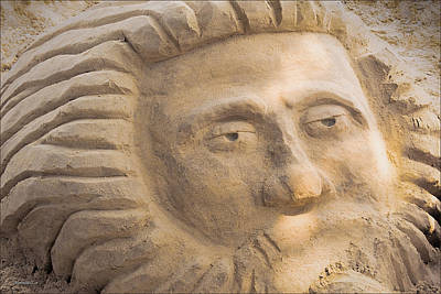 Photograph - Mr Sun Blue Water Sand Sculpture by LeeAnn McLaneGoetz McLaneGoetzStudioLLCcom