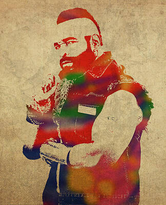 Pity Mixed Media - Mr T Watercolor Portrait by Design Turnpike