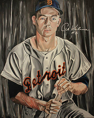 David Courson Painting - Mr Tiger- Autographed By Kaline by David Courson