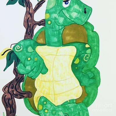 Drawing - Mr. Turtle  by Charita Padilla