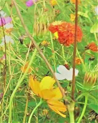 Mr. Van Gogh Style Portrait Of Flowers Art Print