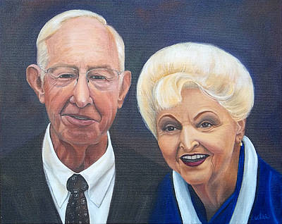Painting - Mr.and Mrs. Birdsong 2 by Anne Cameron Cutri
