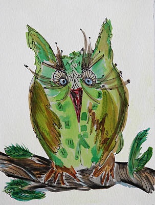 Mr.lime Owl Art Print