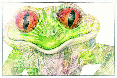 Frogs Mixed Media - Mr Ribbit by Pamela Williams