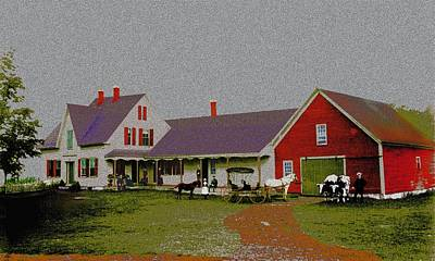 Digital Art - Mrs Ac Whittemore's Farm by Cliff Wilson