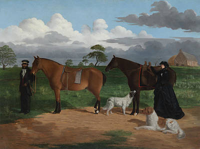 Painting - Mrs Adolphus Sceales With Black Jimmie On Merrang Station by Robert Dowling