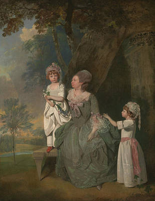 Painting - Mrs. Barclay And Her Children by Francis Wheatley
