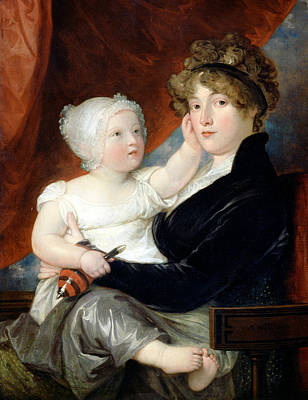 Painting - Mrs Benjamin West II With Her Son Benjamin West IIi by Benjamin West