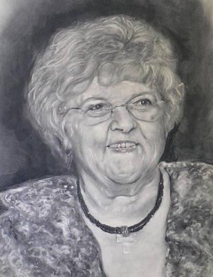Mrs. Carol Paul Art Print by Adrienne Martino