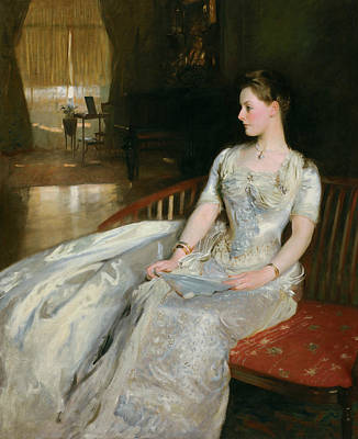Mrs Cecil Wade Art Print by John Singer Sargent