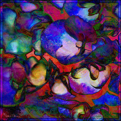 Digital Art - Mrs. Chagall's Hydrangeas by Barbara Berney