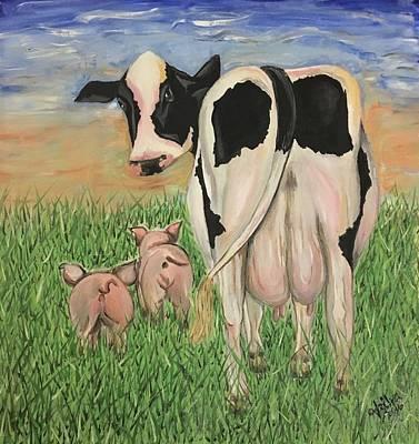 Mrs. Cow Got Milk? Art Print